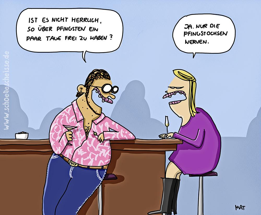 Karikatur mit Sex-Pics